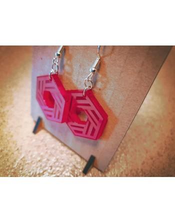 Boucle Acrylique - Hexagone